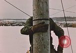 Image of linesman Elmendorf Air Force Base Alaska USA, 1954, second 9 stock footage video 65675034965