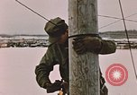Image of linesman Elmendorf Air Force Base Alaska USA, 1954, second 12 stock footage video 65675034965