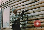 Image of Alaskan man Wasilla Alaska USA, 1953, second 5 stock footage video 65675034966