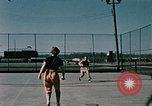 Image of tennis Elmendorf Air Force Base Alaska USA, 1954, second 8 stock footage video 65675034990