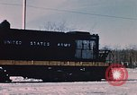 Image of US Army  Alco S-2 locomotive Fort Richardson Alaska USA, 1954, second 7 stock footage video 65675035013