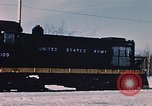 Image of US Army  Alco S-2 locomotive Fort Richardson Alaska USA, 1954, second 8 stock footage video 65675035013