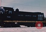 Image of US Army  Alco S-2 locomotive Fort Richardson Alaska USA, 1954, second 9 stock footage video 65675035013