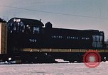 Image of US Army  Alco S-2 locomotive Fort Richardson Alaska USA, 1954, second 10 stock footage video 65675035013