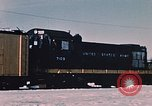 Image of US Army  Alco S-2 locomotive Fort Richardson Alaska USA, 1954, second 11 stock footage video 65675035013