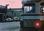 Image of bus Anchorage Alaska USA, 1954, second 4 stock footage video 65675035026