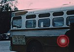 Image of bus Anchorage Alaska USA, 1954, second 12 stock footage video 65675035026