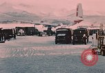 Image of C-119 aircraft Alaska Elmendorf Air Force Base USA, 1955, second 12 stock footage video 65675035047