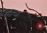 Image of 105mm howitzer gun Fort Richardson Alaska USA, 1954, second 7 stock footage video 65675035053