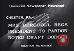 Image of Bergdoll Chester Pennsylvania USA, 1940, second 6 stock footage video 65675035071