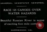 Image of five mile canoe race Guernewood California USA, 1929, second 2 stock footage video 65675035083