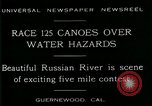 Image of five mile canoe race Guernewood California USA, 1929, second 5 stock footage video 65675035083