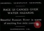 Image of five mile canoe race Guernewood California USA, 1929, second 7 stock footage video 65675035083