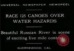 Image of five mile canoe race Guernewood California USA, 1929, second 10 stock footage video 65675035083