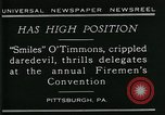 Image of disabled diver 'Smiles' O' Timmons Pittsburgh Pennsylvania USA, 1929, second 3 stock footage video 65675035085