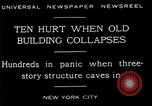 Image of New York City building collapses New York City USA, 1929, second 9 stock footage video 65675035086