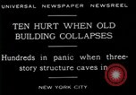 Image of New York City building collapses New York City USA, 1929, second 10 stock footage video 65675035086