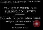 Image of New York City building collapses New York City USA, 1929, second 11 stock footage video 65675035086