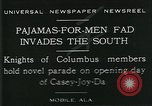 Image of Men wearing pajamas march in Casey Joy Da parade Mobile Alabama USA, 1929, second 1 stock footage video 65675035087