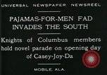 Image of Men wearing pajamas march in Casey Joy Da parade Mobile Alabama USA, 1929, second 2 stock footage video 65675035087