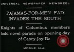 Image of Men wearing pajamas march in Casey Joy Da parade Mobile Alabama USA, 1929, second 11 stock footage video 65675035087