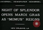 Image of Mardi Gras New Orleans Louisiana USA, 1930, second 2 stock footage video 65675035088