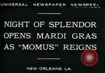 Image of Mardi Gras New Orleans Louisiana USA, 1930, second 3 stock footage video 65675035088