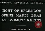 Image of Mardi Gras New Orleans Louisiana USA, 1930, second 4 stock footage video 65675035088