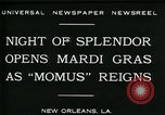 Image of Mardi Gras New Orleans Louisiana USA, 1930, second 7 stock footage video 65675035088