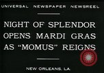Image of Mardi Gras New Orleans Louisiana USA, 1930, second 9 stock footage video 65675035088