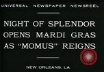 Image of Mardi Gras New Orleans Louisiana USA, 1930, second 10 stock footage video 65675035088