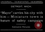 Image of miniature town Detroit Michigan USA, 1930, second 4 stock footage video 65675035091