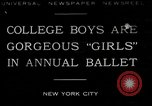 Image of college boys dressed as girls New York City USA, 1930, second 1 stock footage video 65675035092