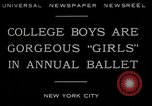 Image of college boys dressed as girls New York City USA, 1930, second 2 stock footage video 65675035092