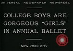 Image of college boys dressed as girls New York City USA, 1930, second 7 stock footage video 65675035092