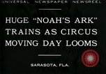 Image of circus Sarasota Florida USA, 1930, second 1 stock footage video 65675035093