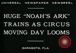 Image of circus Sarasota Florida USA, 1930, second 2 stock footage video 65675035093
