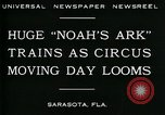Image of circus Sarasota Florida USA, 1930, second 3 stock footage video 65675035093