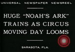 Image of circus Sarasota Florida USA, 1930, second 4 stock footage video 65675035093
