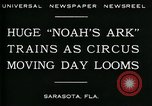 Image of circus Sarasota Florida USA, 1930, second 6 stock footage video 65675035093