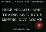 Image of circus Sarasota Florida USA, 1930, second 7 stock footage video 65675035093