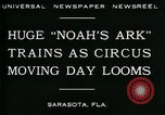 Image of circus Sarasota Florida USA, 1930, second 8 stock footage video 65675035093