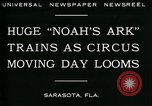 Image of circus Sarasota Florida USA, 1930, second 10 stock footage video 65675035093