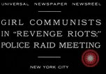 Image of communists New York City USA, 1930, second 3 stock footage video 65675035094