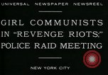 Image of communists New York City USA, 1930, second 4 stock footage video 65675035094