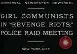 Image of communists New York City USA, 1930, second 5 stock footage video 65675035094