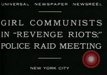 Image of communists New York City USA, 1930, second 8 stock footage video 65675035094