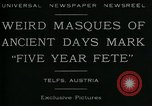 Image of masques Telfs Austria, 1930, second 2 stock footage video 65675035095