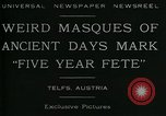 Image of masques Telfs Austria, 1930, second 3 stock footage video 65675035095