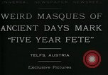Image of masques Telfs Austria, 1930, second 4 stock footage video 65675035095